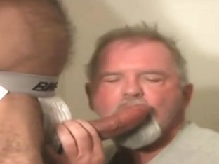 Grandpa enjoys his neighbors cock