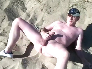 scottish exhibitionist on the beach