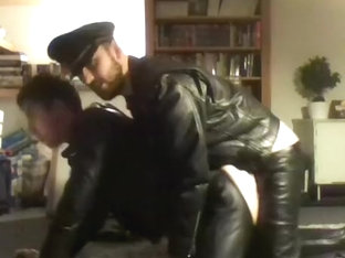 Depraved leather fuck