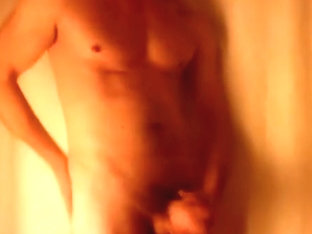 SEXY DILF Musclehunk Cums while jacking off in the bathroom.
