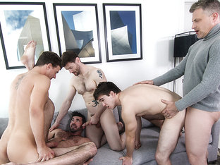 Billy Santoro & Brenden Cage & Dennis West & JJ Knight & Will Braun in A Hollywood Story Part 3 - .