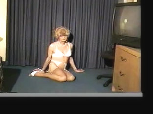 Slim Transgender On Heels Reverse Toying