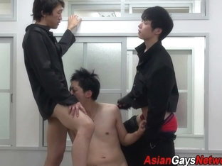 Asian twink spitroasted