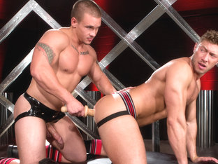 Johnny Ryder & Adam Bryant in Erector Video