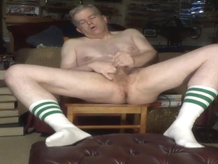Handsome not uncle cumshot in white socks compilation