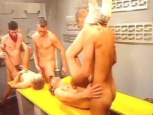 Hot Gay Action With Five Twinks