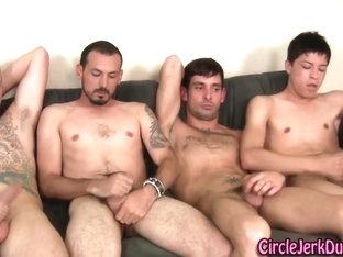 Five straightys jerking