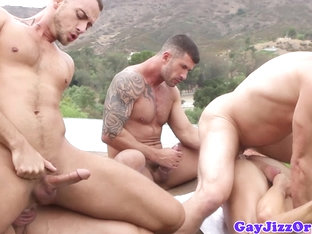 Crazy outdoor group sex with Hans Berlin