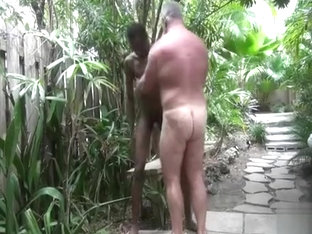 Young Black man fucks his daddy