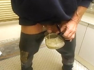 nlboots - 'repaired' waders smoking piss transparent rubber