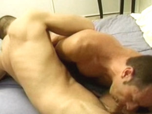 Fabulous male pornstars Thomas Bond and Collin Jennings in hottest swallow, blowjob homosexual por.