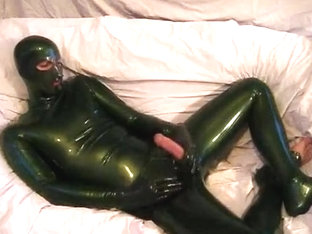 Green Latex Dress and Mask