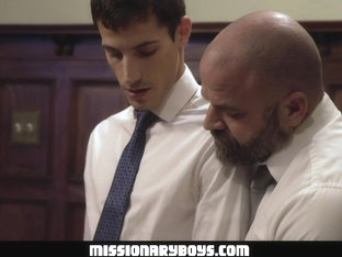 MissionaryBoyz - Furry Priest Shoots A Gooey Load In A Missionary Boy's Butt