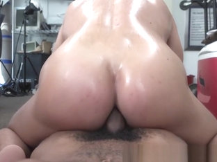 Straight dude blinded by cash ass fucked by giant black dick