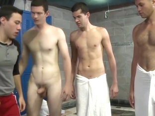 Cock Virgins Blake Stone Blows 3 Twinks In Locker Room