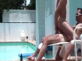 Poolside fuck