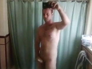Bathroom Jack Off cell phone vdeo