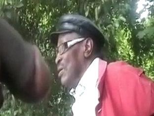 Black Guy Flashes Older Black Man