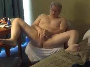 Hotel room jerk-off