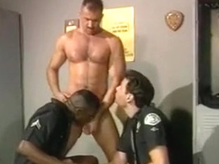 Gay Cops Play Around In The Station