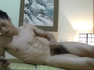 youthful Japanese hunk solo