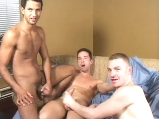 Three Hot Men on Couch
