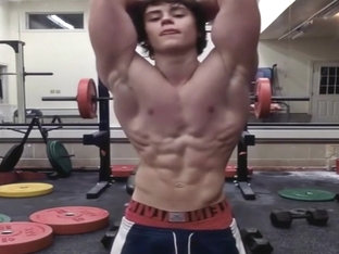 Bodybuilder With Strong Abs