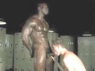 Incredible male in hottest interracial, big dick homo porn clip