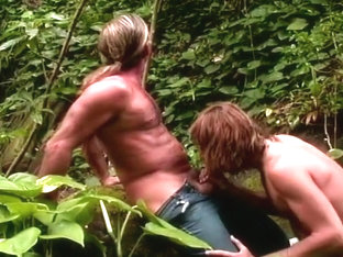 Thick Dick Adventurers Fucking in Jungle