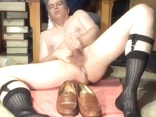 cumming on loafers