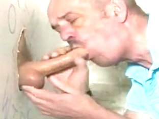 Older guys a BIG uncut at the gloryhole