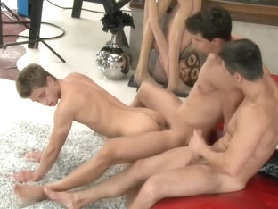 Twink cute fucked from two men