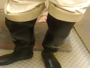 nlboots - waders white trousers