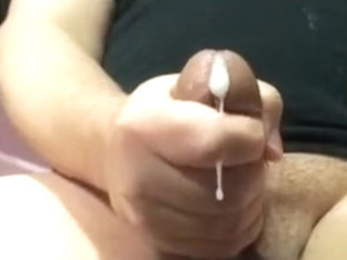 Jerking off my dick with a slow motion cum shot