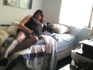 Photo session Masturbating in Nylons. Little slut