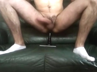 Twink Riding Sex Tool on sofa 1/2