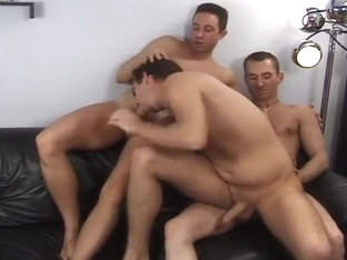 Three Brunette Boys Have Hot Homo Sex
