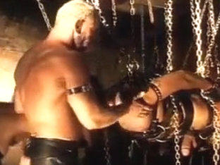 Ball bashing CBT orgy with bondage.