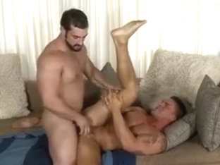 Bearded man gets pounded from behind