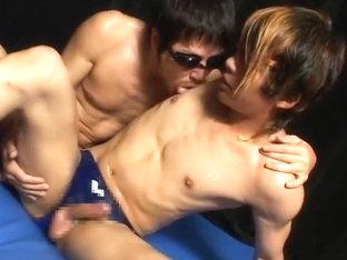 Exotic Asian gay twinks in Horny masturbation, handjob JAV movie
