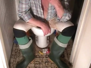 nlboots - orange and green boots, socks, obscene lengthy johns