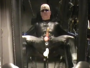 Rubber covered machine fucked and milked