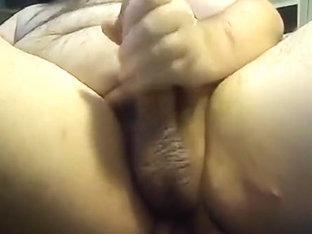 Fat Boy Jacking with a Butt Plug