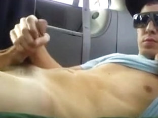 Horny hunks in car 7