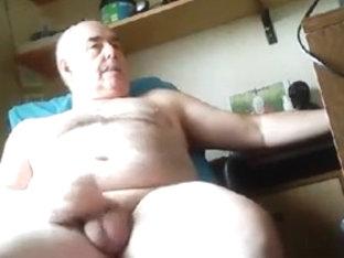 Grandpa cum on cam 2