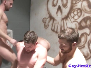 Piss fetish gay hunk empties his bladder