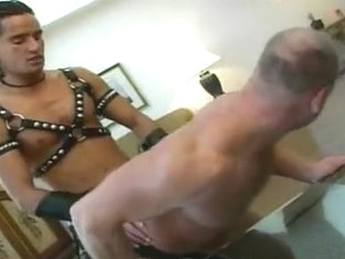 Crazy male in fabulous blowjob, uniform homo sex scene