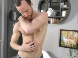 Furry cub Alex Hawk strokes his hard cock
