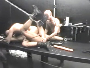 Hottest homemade gay clip with Leather, Bondage scenes