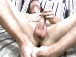 Dominic playing with his Dildo ...